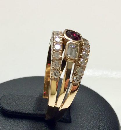 Riviera rubino e diamanti