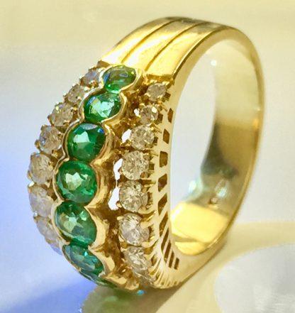 Fascia di tsavorite e diamanti