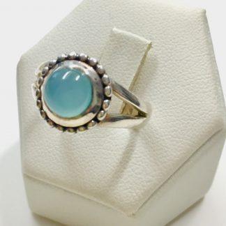 anello in argento gemma Angelite