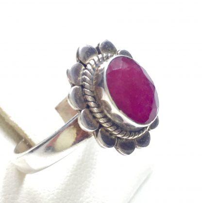 Anello Margherita con rubino r.