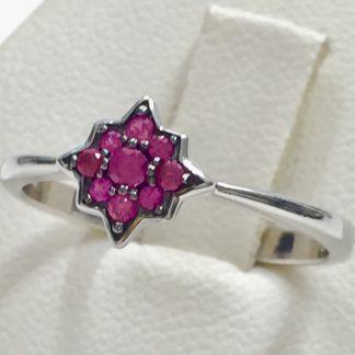 anello in argento con rubellite