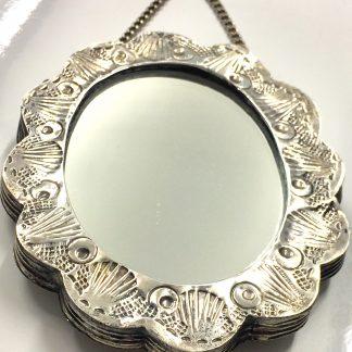 Specchio in argento 800
