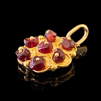 pendente in filigrana sarda oro 18 carati